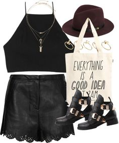 styleselection:  outfit for a outdoor concert by im-emma featuring a wide brim fedora