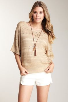 Open Knit Sweater by Romeo & Juliet Couture on @HauteLook