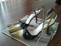DIY Colorblock Heels