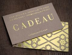 gold foil business card - Google Search