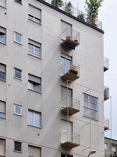 TÉCHNE Facade, Multi Story Building, Villa, House, Balconies, Urban, Rationalism, Xmas, Merry Christmas