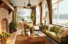 Find inspiration and fun sunroom decorating ideas for your home in 11 beautiful sunrooms. They'll help you turn your sunroom into everyone's favorite room! Outdoor Rooms, Outdoor Living, Outdoor Furniture Sets, Outdoor Decor, Sunroom Furniture, Wicker Furniture, Wicker Couch, Wicker Dresser, Wicker Man