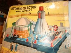 Vintage Tin Linemar Atomic Reactor Steam Engine | eBay