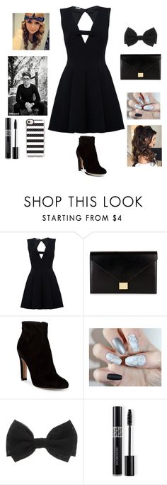 """""""BLACK PARTY"""" by reka15 on Polyvore featuring Victoria Beckham, Gianvito Rossi, Christian Dior and Casetify"""