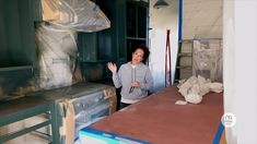 Dark Green Kitchen, Green Kitchen Cabinets, Kitchen Redo, Chip And Joanna Gaines, Chip Gaines, Clint Harp, Joanna Gaines Farmhouse, Old Bookcase, Farmhouse Renovation