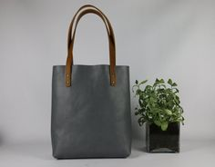 grey leather tote bag ,leather tote,shoulder bag,handmade leather bag ,tote bag,leather bag,borsa di cuoio,