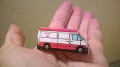 De cartolina: Ambulância do posto da SAMU