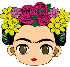 The world's catalog of creative ideas Painted Flower Pots, Painted Pots, Frida Kahlo Cartoon, Frida Kahlo Birthday, Mexican Party, Cartoon Images, Folk Art, Clip Art, Drawings