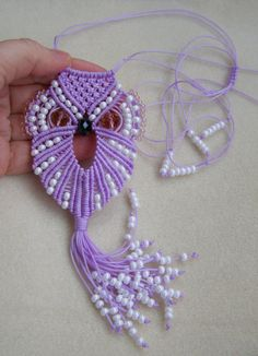 Macrame Owl necklace for mom Gift for Her