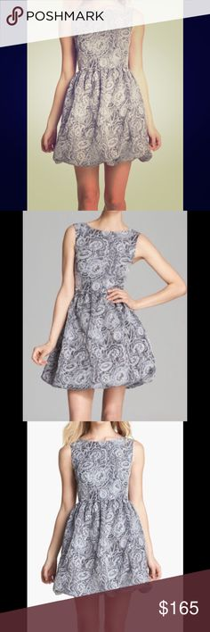 Kate Spade Jacquard Dress Fit and flare with bubble hem. Grey zipper in the back!  Amazing! Never worn! Comes with Kate Spade garment bag! (Size 10 but fits like an 8) kate spade Dresses Midi