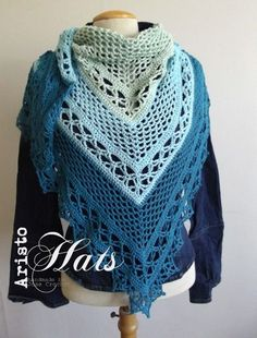 Wilma Shawl in Blue