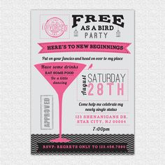 Divorce party invitations!