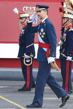 King Felipe VI of Spain attended the Military Parade during the Spanish National Day on 12.10.2014 in Madrid, Spain