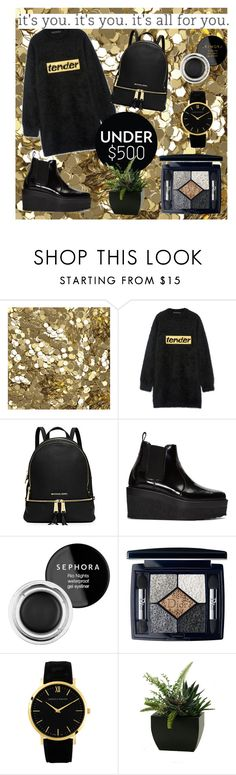 """""""Black&Gold"""" by laragomori ❤ liked on Polyvore featuring Burberry, Alexander Wang, MICHAEL Michael Kors, Pierre Hardy, Sephora Collection, Christian Dior and Larsson & Jennings"""