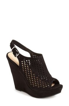 Chinese Laundry 'Meet Up' Slingback Wedge Peep Toe Sandal (Women) available at #Nordstrom