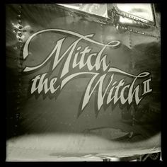 Mitch the Witch Palm Springs Air Museum, Spring Air, Nose Art, Witch, Aircraft, Neon Signs, Aviation, Witches, Planes