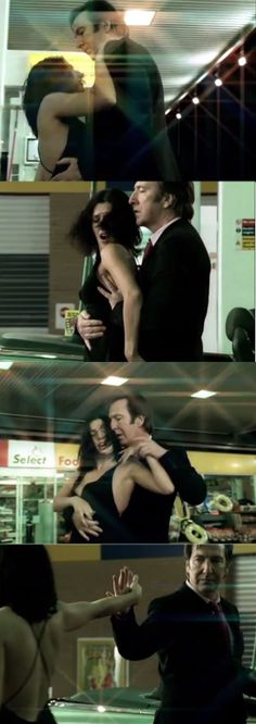 Stills from the music video for Texas - In Demand. I think the song is a bit too poppy sounding for this extremely sexy video, but I still love watching it anyway. Alan Rickman dancing the tango in a petrol station with Sharleen Spiteri is insanely hot.