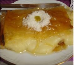 Greek Sweets, Greek Desserts, Greek Recipes, Fun Desserts, Cookbook Recipes, Sweets Recipes, Candy Recipes, Cooking Recipes, Galaktoboureko Recipe
