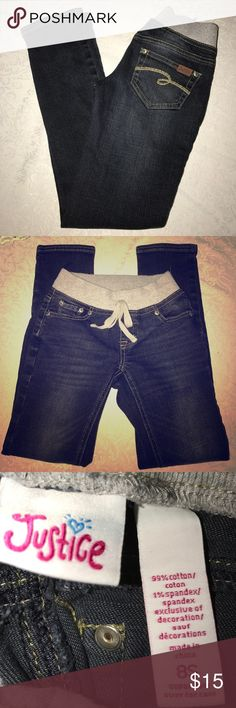 """Justice✨Girls Jeans 24"""" inseam, knit waist. Justice Jeans Skinny"""