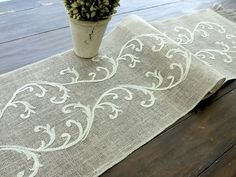 Burlap+table+runner+wedding+table+runner+by+HotCocoaDesign+on+Etsy,+$89.00