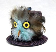 Tiny Top Hat: Baby Owl by TinyTopHats.deviantart.com on @deviantART . They sell hats on etsy. Cute idea ... Got me thinking #tophat #tinytophats #hats #funaccessories