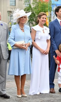 For Canada Day celebrations on Parliament Hill with the Duke and Duchess of Cornwall, Sophie championed Canadian designers in a Tanya Taylor jumpsuit, Dean Davidson and Hillberg and Berk accessories and Aldo shoes. <br><p>Photo: CP
