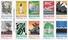 WPA Posters USPS Postage Philately Stamps Usps Postal Wpa