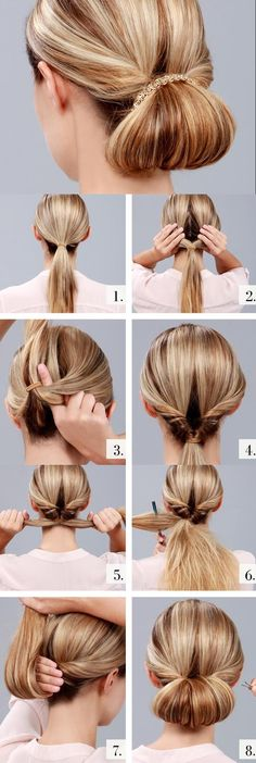 How to make simple up-do