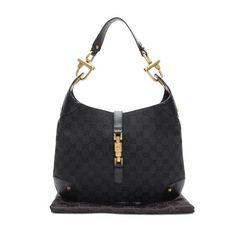 GUCCI New Jackie  GG Canvas Shoulder bags Black Canvas 120888