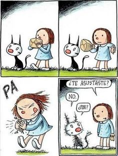 ¿No se asustó? Crazy Cat Lady, Crazy Cats, Kawaii Illustration, Funny Phrases, Good Notes, Vintage Children, Cartoon Art, Funny Posts, Comic Strips