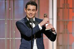 Damien Chazelle wins best director at the Golden Globes for 'La La Land.' He is the youngest director to win in the history of the awards show. Best Director, Film Director, Damien Chazelle, Digital Film, Film School, Video Maker, Screenwriting, Cinematography, Short Film