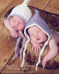PATTERN Vintage Baby Pixie Elf Hat Crochet - Newborn -
