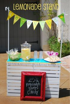Such a cute and affordable lemonade stand.