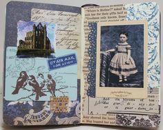 Unruly PaperArts: September 2012 Reader Art Quest 2: Glue Book Page