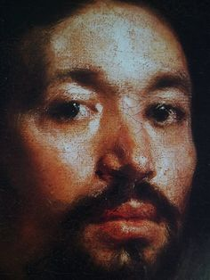 One of a number of works Velasquez produced (in1650) in order to get his hand in before tackling the Pope, this miraculous portrait of Juan de Pereja (detail) was displayed in the Pantheon where 'it gained such universal applause that in the opinion of all the painters... everything else seemed like painting but this alone like truth'.