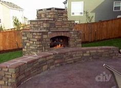 How To Build An Outdoor Fireplace | How to Build an Outdoor Fireplace | PopScreen