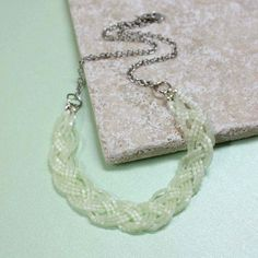 seed bead braid necklace