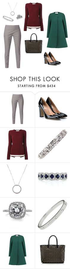 """""""Thanksgiving Dinner"""" by laurenhansendenatly ❤ liked on Polyvore featuring WtR, Valentino, Victoria, Victoria Beckham, Mark Broumand, Cartier, Goat and Goyard"""