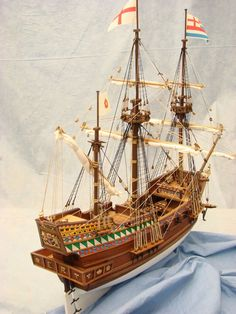 Golden Hind scale model ship
