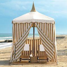 Relax in a Cabana Beach Cabana, Beach Tent, Pool Cabana, Beach Bum, Coastal Style, Coastal Living, Seaside Style, Ideas Cabaña, Porches