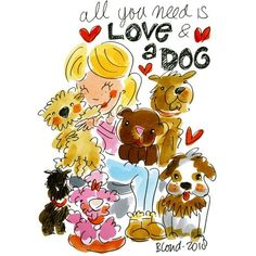 All you need is love & a dog (Jaar van de hond) - Blond Amsterdam 2018 Blond Amsterdam, Amsterdam School, Tarjetas Diy, Poster Drawing, Game Concept Art, Poster Layout, Watercolor Fashion, Dog Illustration, Labradoodle