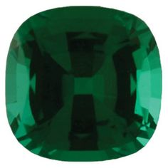 4mm Antique Square Faceted Chatham Created Emerald