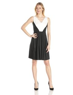 Color-Block Day Dress by Anne Klein