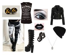 """""""Untitled #56"""" by suicide-love666 ❤ liked on Polyvore featuring River Island, Demonia, Topshop and Aspinal of London"""