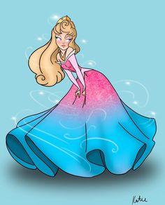 Disney Princess Drawings, Disney Princess Art, Disney Drawings, Cartoon Drawings, Cartoon Art, Sleeping Beauty Art, Sleeping Beauty Maleficent, Disney Canvas Art, Disney Fan Art