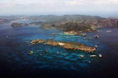 distesa di cielo e mare che circonda le isole giapponesi di Ogasawara, conosciute anche come isole Bonin Patrimonio dell'umanità:  le nuove quattro meraviglie naturali