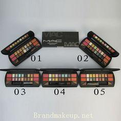 mac 18 color eyeshadow plus 4 color blush 20g 0.7oz