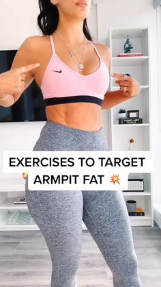 Arm pit fat at home workout for women, all you need is a resistance band. #upperbodyworkouts #armworkout #exercisefitness