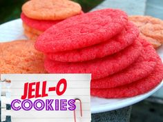 Jello cookies! Who knew, right?! These cookies are so fun to make, play with the dough, and eat! Fruity cookies sound weird, but I still can't wait to try!