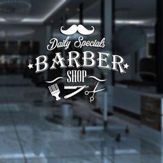 Barber Shop Sticker Name Chop Bread Decal Haircut Shavers Posters Vinyl Wall Art Decals Decor Windows Decoration Mural Barber Poster, Barber Logo, Joe Barber, Vintage Hairdresser, Hairdresser Tattoos, Barber Apron, Barber Shop Decor, Straight Razor Shaving, Barbershop Design